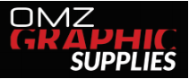 OMZ Graphic Supplies Sticky Logo